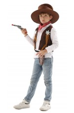 Kids Cowboy Sheriff Vest Costume Kit