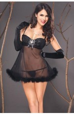 Baby doll - Black sheer babydoll