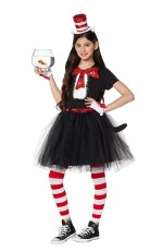 Women Dr Seuss Cat In The Hat Costume set