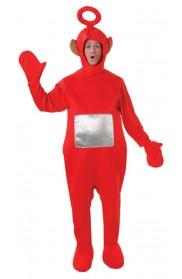 Teletubbies Costume Unisex Po (Red) Adult Onesie