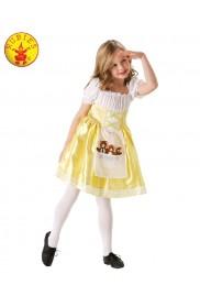 Girls Goldilocks Costume Child Book Week Day Fancy Dress Kids Three Bears Outfit