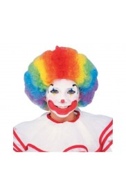 Accessories - Childrens Multi Coloured Rainbow Afro Curly Wig Clown Kids Boys Girls Fancy Dress Party Costume Accessories