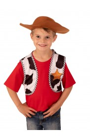 Toy Story 4 Woody Boy's Vest and Hat Accessory Kit cl3057