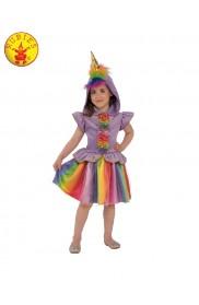 Rainbow Unicorn Girls Fancy Dress Fairy Tale Book Day Animal Kids Childs Costume