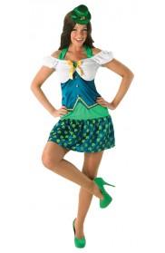 Lady Leprechaun Sexy Irish St Patricks Day Fancy Dress Green Costume 1