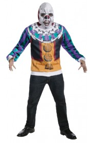 Mens IT Movie Pennywise Dancing Clown Scary Halloween Hoodie Mask Horror Costume