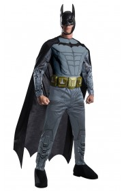 Batgirl & Batman Costumes - Deluxe Adult Licensed Batman Muscle Chest Dark Knight Rises Costume Outfit