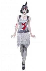Zombie Costumes - 20s 1020s Horror Ladies Zombie Bloody Flapper Party Fancy Dress Costume Halloween