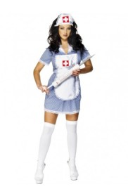 Nurse Costumes - Smiffys Licensed Ladies Nurse Uniform Doctor Medical Fancy Dress Up Hens Party Costume Outfit