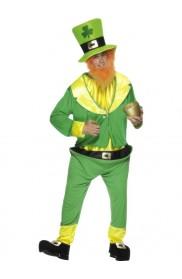 Mens Lucky Irish Green Leprechaun Costume St Patricks Day Halloween Party Outfit Oktoberfest Men
