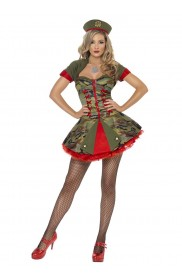 Army and FBI Costumes - Adult Womens Fever Boutique Special Forces Army Military Smiffys Fancy Dress Costume