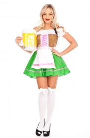 Oktoberfest Costumes Australia - Ladies Beer Maid Wench Costume Oktoberfest Gretchen German Fancy Dress Halloween