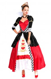 Alice In Wonderland Costumes - Deluxe Disney Queen of Hearts Alice in Wonderland Costume Movie Fancy Dress