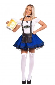 Ladies Blue Oktoberfest Beer Maid Costume lg204blue