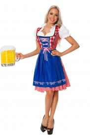 Ladies Blue Wench German Heidi Costume LG8001B