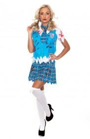 Zombie Costume - Ladies Zombie Bloody School Girl Costume