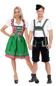 Green Couple Oktoberfest Vintage Costume lh201+lg8001
