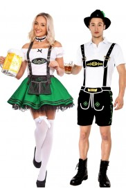 Green Couple Lederhosen Dirndl German Costume lh214+lg204g