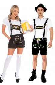 Couple Lederhosen Oktoberfest Costume lh214+lh304