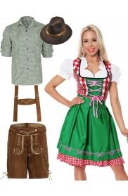 Couple Green Oktoberfest Beer German Lederhosen Costume lh220glg8001g