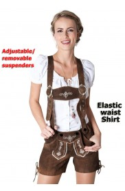 Adult German Lederhosen Beer Maid Costume lh314n