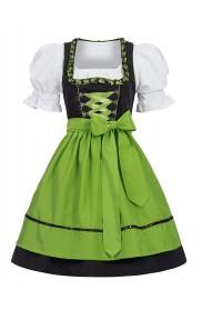 Green Ladies German Bavarian Beer Maid Vintage Costume front ln1001g