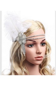 Silver The Great Gatsby Flapper Headpiece