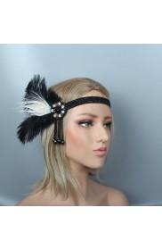 Ladies 20s Headband Feather Gatsby Flapper Headpiece
