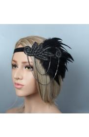 1920s Black Great Gatsby Flapper Headpiece