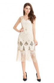 beige gatsby themed dress lx1031_1