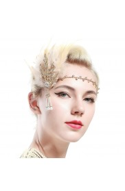 1920s Feather Gatsby Flapper Headpiece