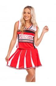Cheerleader Costume - Ladies Cheerleader School Girl Uniform Fancy Dress Costume