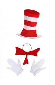 Kids Dr Seuss Stripe Cat in the Hat Costume pp1016
