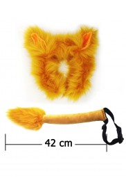Lion Headband Set Kids Animal Farm Zoo Party Performance Headpiece Fancy Dress Costume Kit Accessory