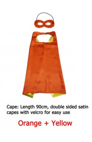 Orange Double sided Cape & Mask Costume set
