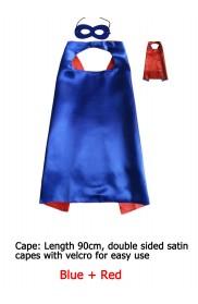 Blue Double sided Cape & Mask Costume set