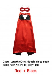 Red Double sided Cape & Mask Costume set