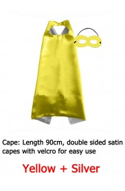 Yellow Double sided Cape & Mask Costume set