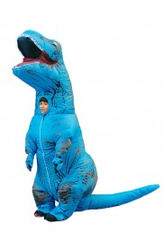 tt2001nkidblue Blue Child T-Rex Blow up Dinosaur Inflatable Costume