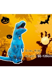 Blue Child T-Rex Blow up Dinosaur Inflatable Costume