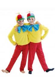 Tweedle Dee Dum Kids Costume + Propeller Hat