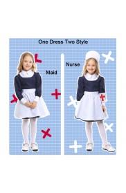 Kids Girls Victorian Maid Nurse Hospital Vet Book Week Costume
