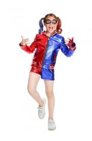 Kids Girls Harley Quinn Harlequin Suicide Squad Full Costume Set