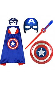 Captain America Marvel Kids Costume Toy Set tt3103