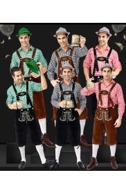 Mens Oktoberfest Bavarian Costume  tt3148TgreenPbrown