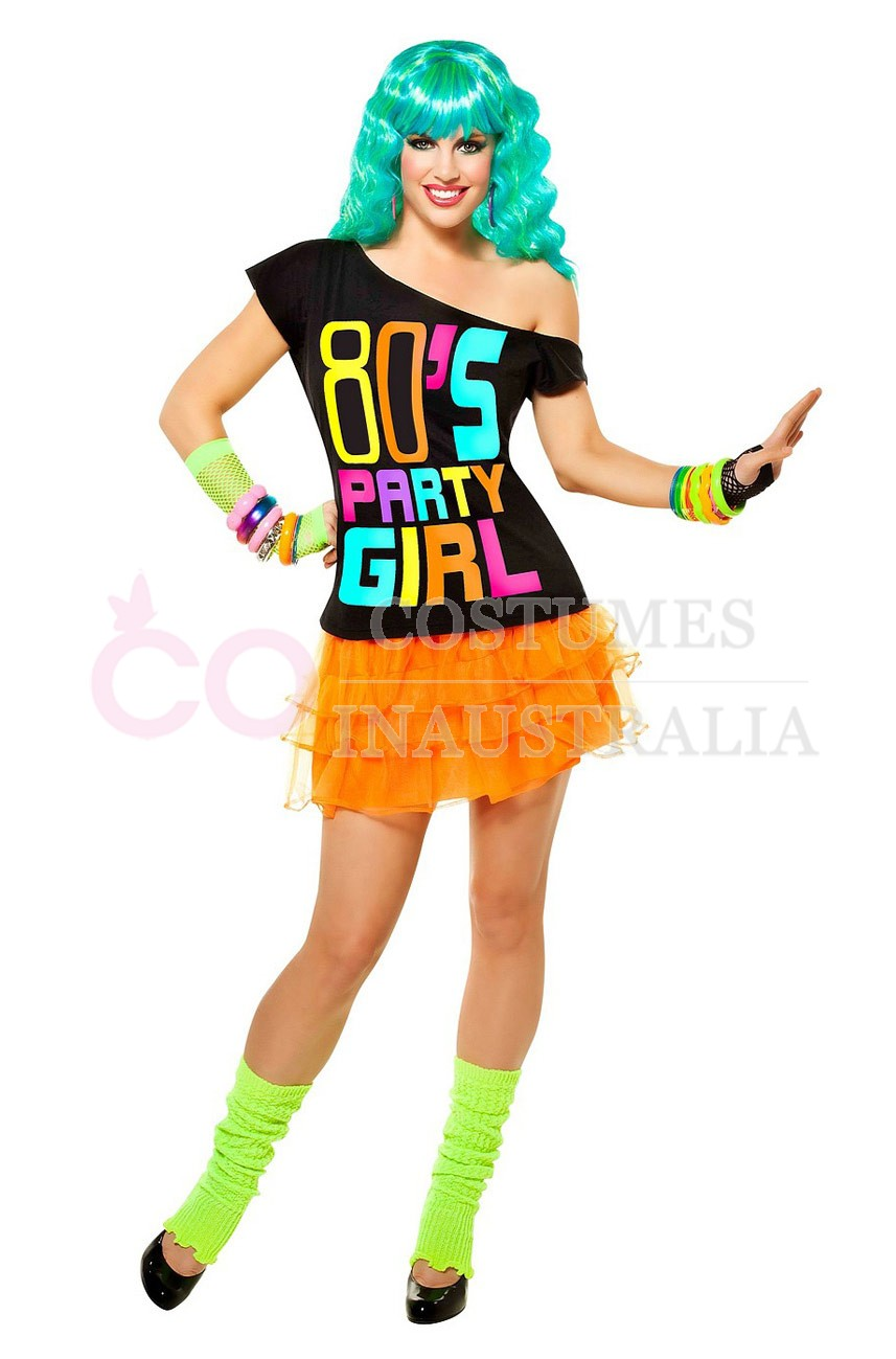 i love the 80s tshirt costume 1980s 80s party fancy dress