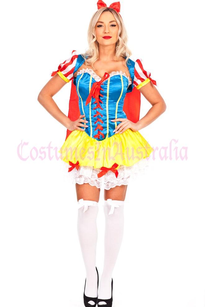 Ladies Snow White Princess Fairy Tale Costume Halloween