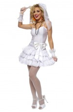 80s Costumes Australia - 1980s Madonna Virgin Bride 80s Clothing Fancy Dress Hens Party Costume Outfit