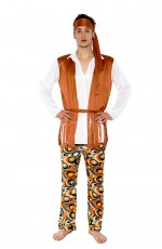Mens Hippie 60's 70's Peace Groovy Halloween Fancy Dress Adult Costume