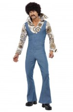 1970s 70s Licensed Groovy Dancer Mens Fancy Dress 70s Party Retro Go Go Costume Disco